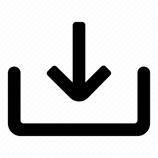 Down, down load, direction, arrow, import icon