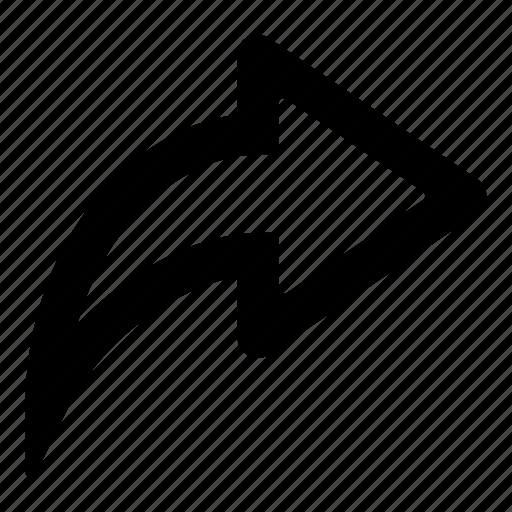 Direction, right, skip, next, step, arrow icon