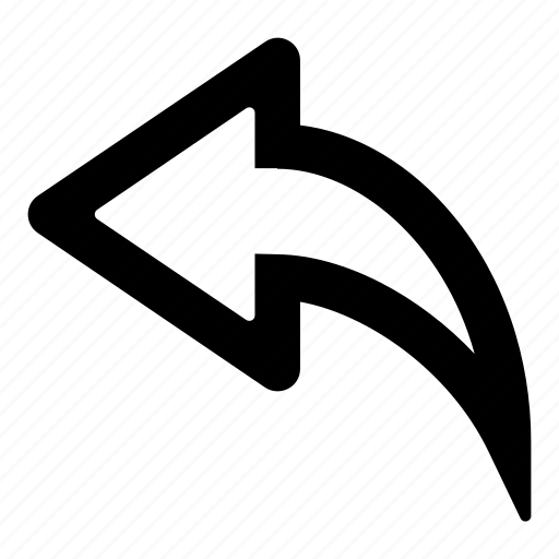 arrow, back, direction, left, replay, return, undo icon
