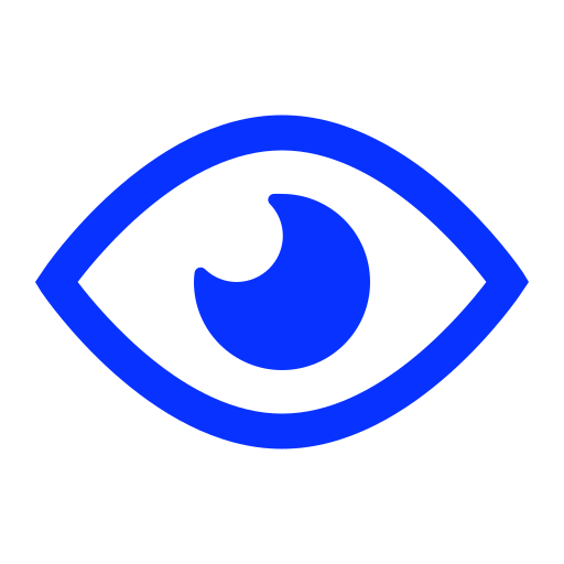 eye, opened, public, visible, watch icon