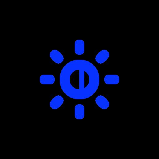 brightness, control, light, lower, monitor, screen, sun icon