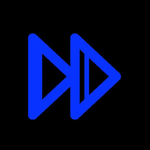 audio, control, forward, music, right icon