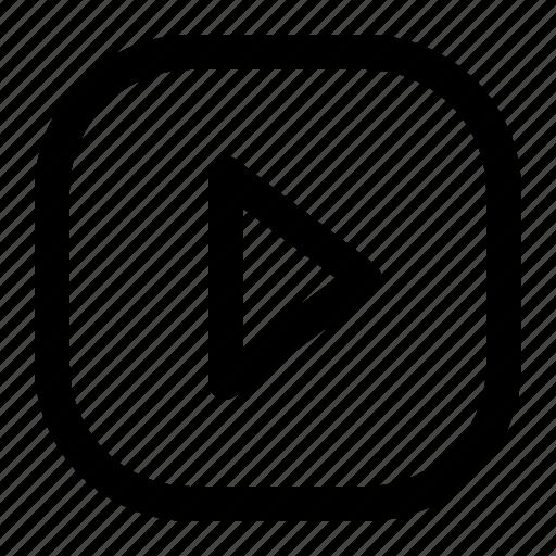 arrow, control, media, play, start icon