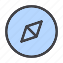adventure, compass, direction, gps, interface, map, navigation icon