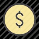 business, coin, dollar, finance, management, money, sign
