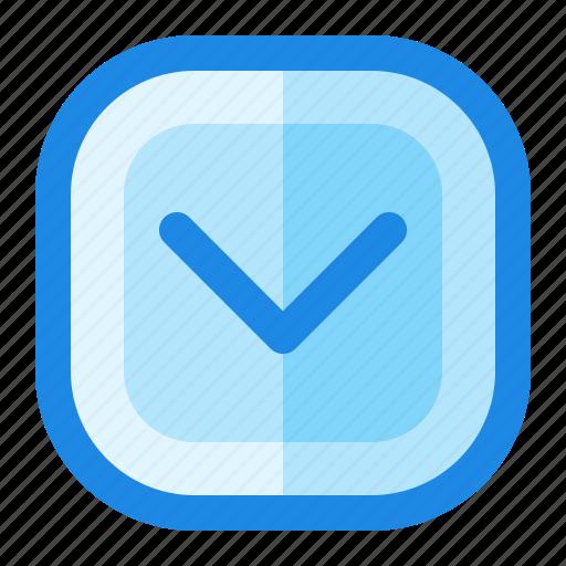Arrow, down, menu, navigation icon - Download on Iconfinder