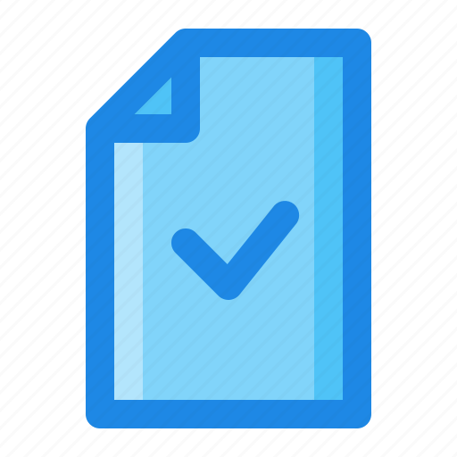 Check, document, file, verified icon - Download on Iconfinder