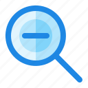 find, magnifier, minus, search