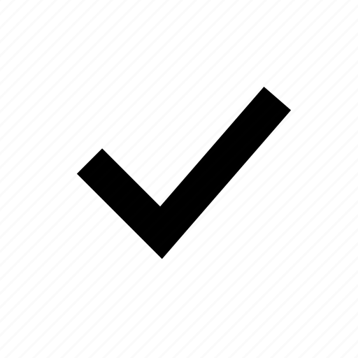 checkmark, complete, done, select icon
