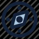 arrow, compas, location, map, navigation, pin