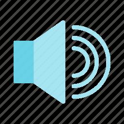 loud, multimedia, sound, speaker, volume icon