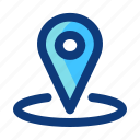 gps, interface, location, position, ui icon