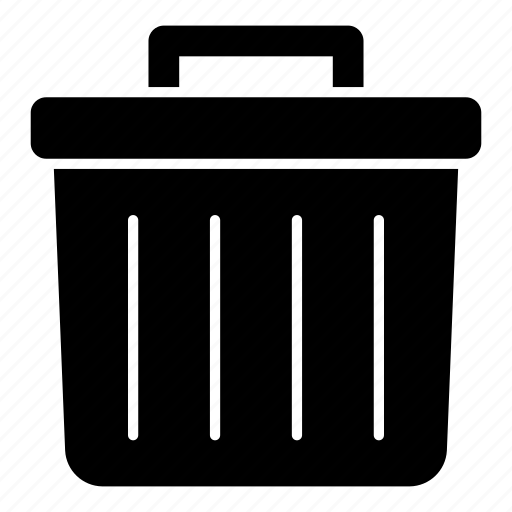 bin, delete, erase, garbage, remove, trash icon
