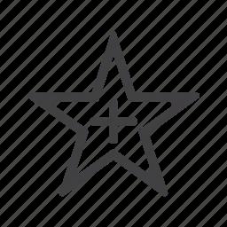 add, bookmark, favorite, new, plus, star icon