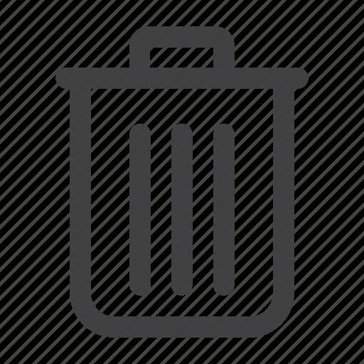 bin, delete, garbage, recycle, remove, trash icon