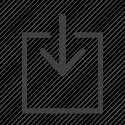 document, download, folder, guardar, import, save, social icon