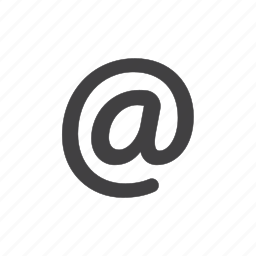 at, chat, communication, email, mail, message, sign icon