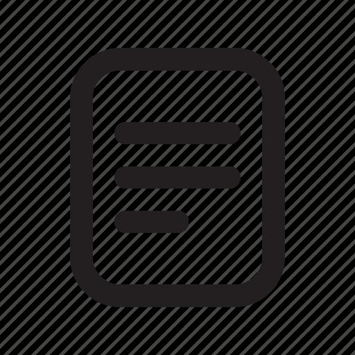 file, line, list, ui icon