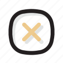 delete, gold, line, remove, shadow, ui icon