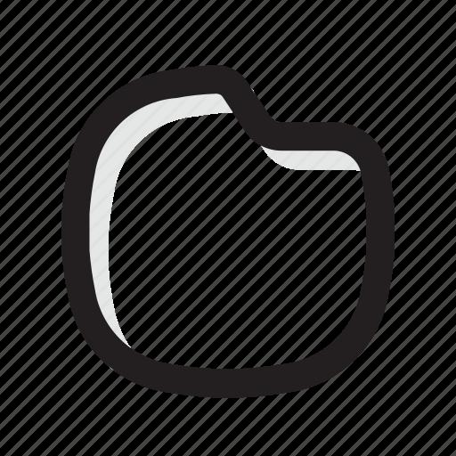 folder, gold, line, shadow, ui icon