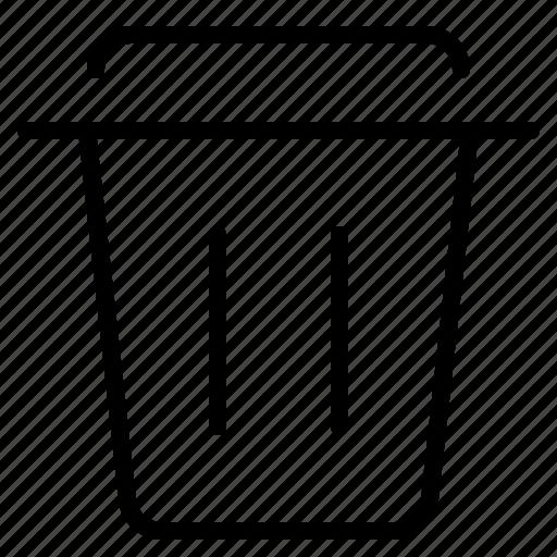 can, delete, erase, rubish, trash icon