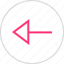 arrow, left, pointer icon