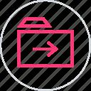 archive, arrow, next icon