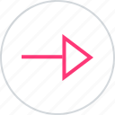 arrow, next, point, pointer icon