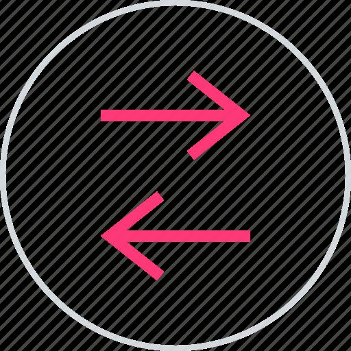 arrows, data, internet icon