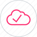 approved, cloud, good icon
