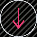 down, low, menu, nav icon