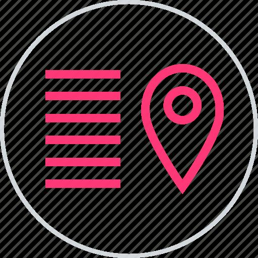 gps, lines, location icon