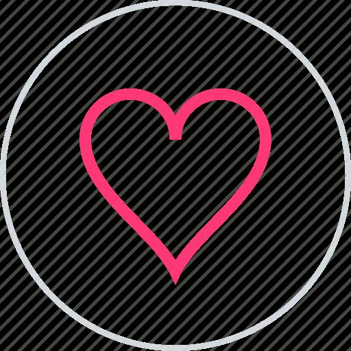 favorite, love, online icon