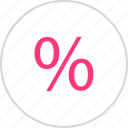online, percent, rate icon