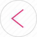arrow, backwards, previous icon