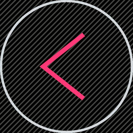 arrow, backwards, previous icon
