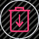 add, bin, can, trash icon