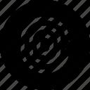 fingerprint, recognition, scan icon
