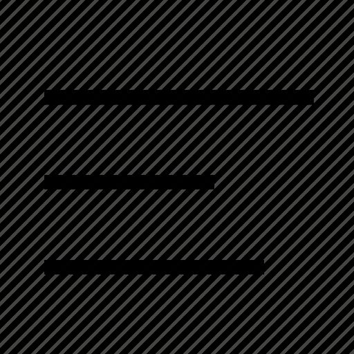 align, bar, left, line, list, menu, text icon