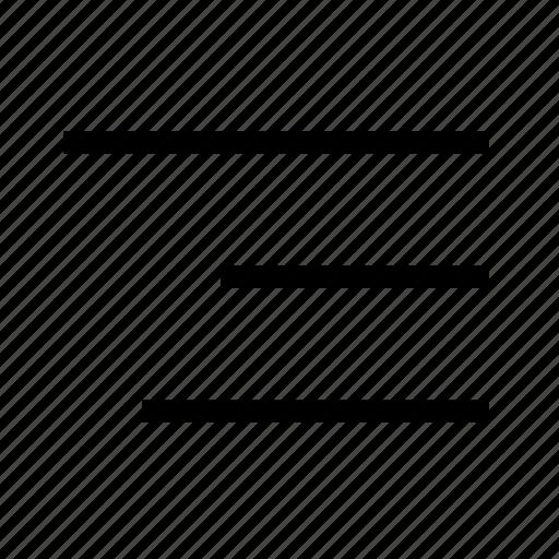 align, bar, line, menu, right, text, ui icon