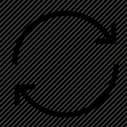 arrow, arrows, refresh, rotate, sync, synchronize, upload icon