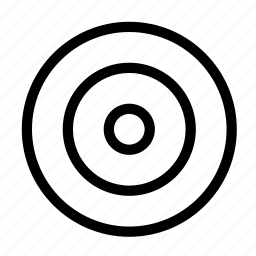 business, circle, goal, inside, near, round, target icon