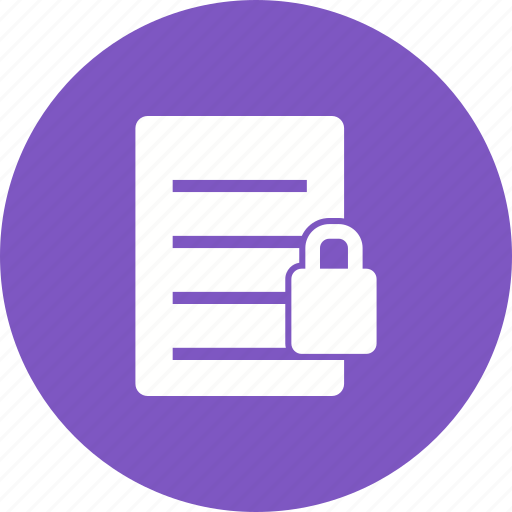 data, document, files, folder, lock, protection, security icon