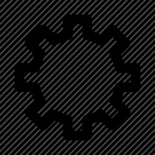 arrangement, cogwheel, disposition icon