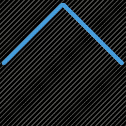 arrow, blue, standard, top, ui, up icon