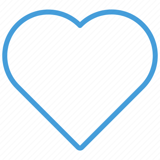 blue, heart, like, love, standard, ui icon