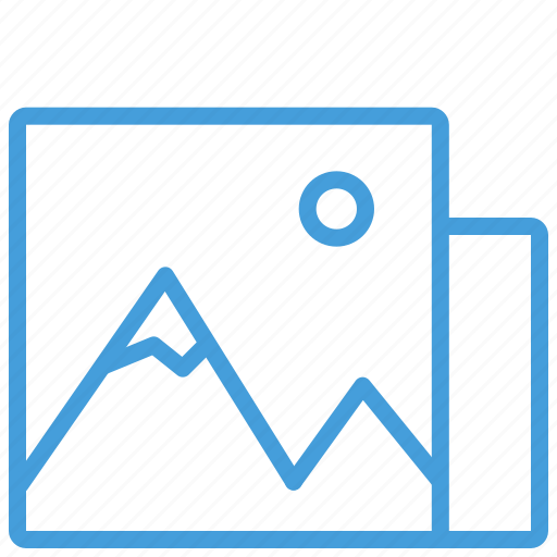 blue, file, image, landscape, photo, standard, ui icon