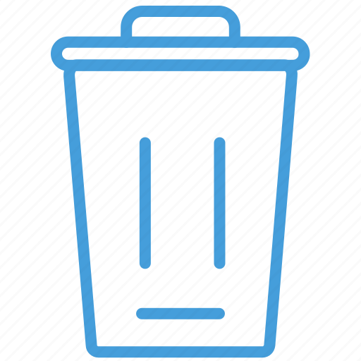 blue, delete, remove, standard, trash, ui icon
