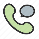 call, chat, telephone