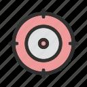 aim, focus, target icon